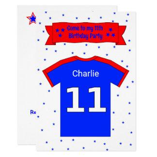 personalisierte Party Einladung des 11.