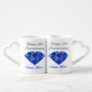 Personalisierte Saphir-Jahrestags-Geschenk-Ideen Duo-Tassen