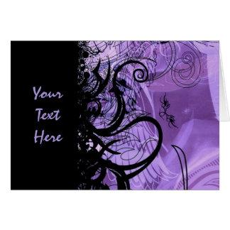 Personalisierte schwarze und lila Goth Karte