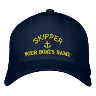 Personalisierte Segelnkapitänkapitäne Bestickte Kappe