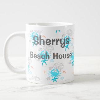 Personalisierte Strand-Haus-Kaffee-Tasse Jumbo-Tassen
