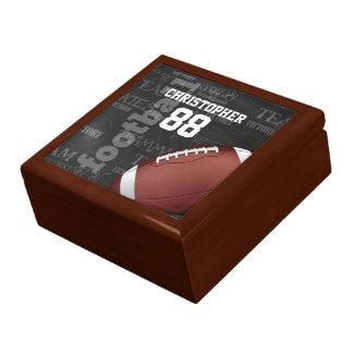 Personalisierte Tafel-amerikanischer Fußball Große Quadratische Schatulle