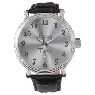 PERSONALISIERTE Uhr-/GROSSE Zahl-Uhren für Männer Armbanduhr