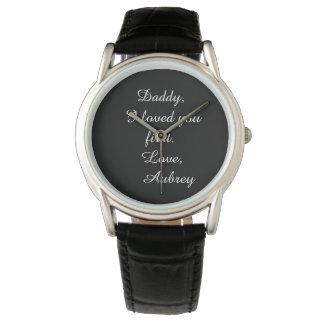 "Personalisierte ""Vater der Braut"" Leder-Uhr Armbanduhr"