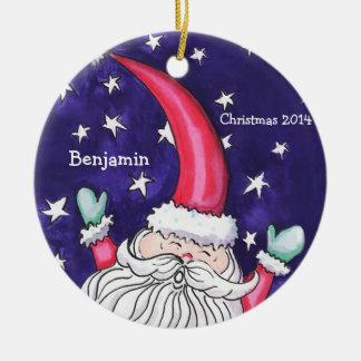 Personalisierte wunderliche runde Verzierung Rundes Keramik Ornament