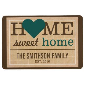 Personalisierte Zuhause-süße Bodenmatte
