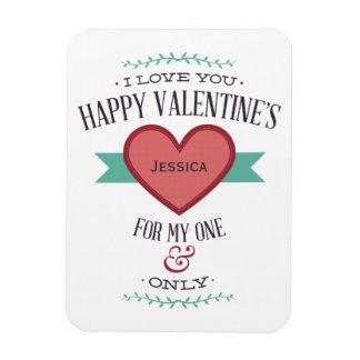 Personalisierten glücklichen Valentines für meinen Recchteckiger Magnet