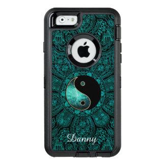 Personalisierter aquamariner Yin Yang Mandala OtterBox iPhone 6/6s Hülle