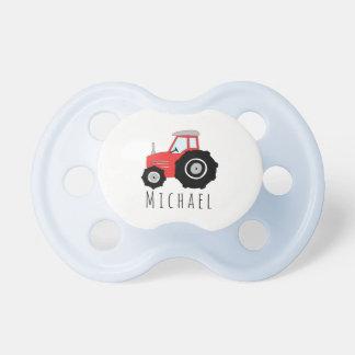 Personalisierter Baby-Jungen-roter Schnuller