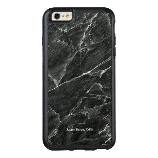Personalisierter beruflicher schwarzer Marmor OtterBox iPhone 6/6s Plus Hülle