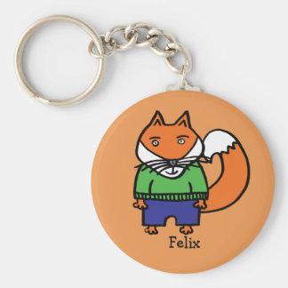 Personalisierter Felix der Fox Schlüsselanhänger