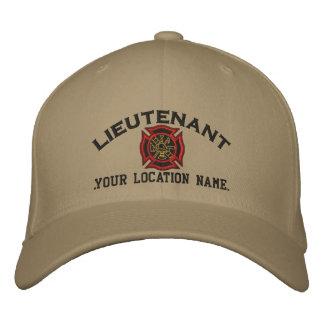 Personalisierter Feuer-Leutnant Custom Cap Bestickte Baseballkappe