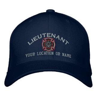 Personalisierter Feuer-Leutnant Custom Cap Bestickte Kappe
