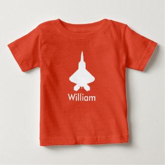Personalisierter Flugzeug-Kämpfer-Jet scherzt Baby T-shirt