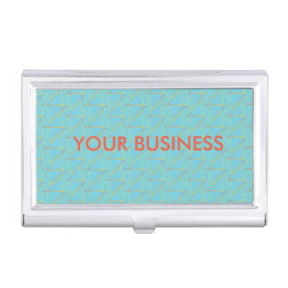 Personalisierter Geschäfts-Kartenhalter - blaues Visitenkarten-Dosen