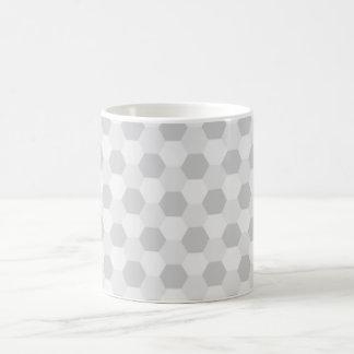 Personalisierter grauer Hexagonhintergrund Tasse