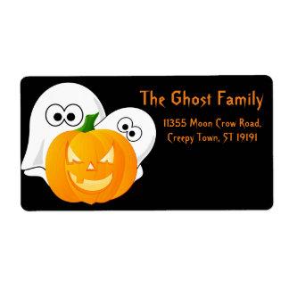 Personalisierter Halloween-Geist-Kürbis