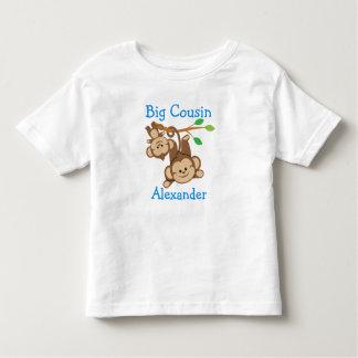 Personalisierter Junge Monkeys großen Cousin Kleinkinder T-shirt