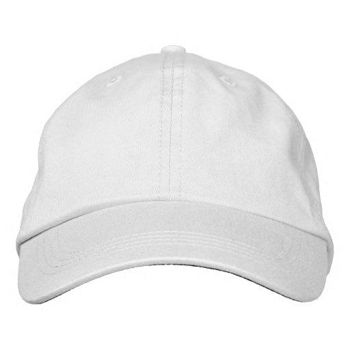 Weiß Alternative Apparel Basic anpassbare Kappe Embroidered Hat