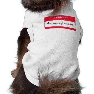 Personalisierter kleiner ExtraHundeshirt Ärmelfreies Hunde-Shirt
