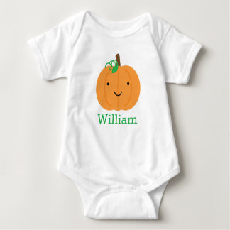 Personalisierter kleiner Kürbis Baby Strampler