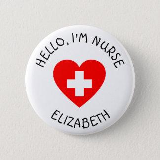 Personalisierter Krankenschwester-(addieren Sie Runder Button 5,1 Cm
