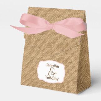 Personalisierter Leinwand-Zelt-Bevorzugungs-Kasten Geschenkkartons