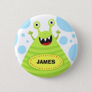 Personalisierter lustiger grüner runder button 5,7 cm