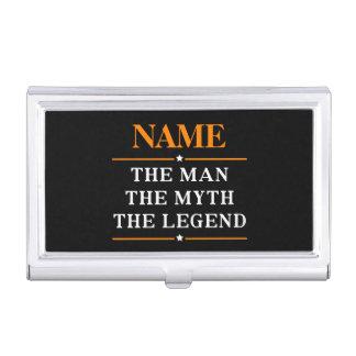Personalisierter Name der Mann der Mythos die Visitenkarten-Schatullen