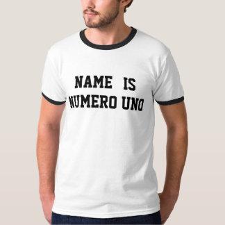 Personalisierter Name ist Numero UNO Hemden