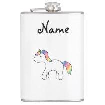 Personalisierter Namensregenbogenbaby Unicorn