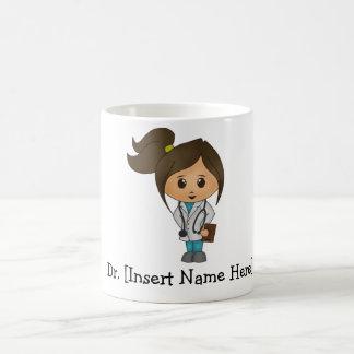 Personalisierter niedlicher Doktor Female Tasse