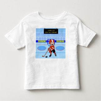 Personalisierter niedlicher Eis-Hockeystern Kleinkinder T-shirt