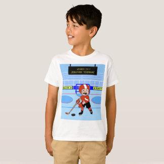 Personalisierter niedlicher Eis-Hockeystern T-Shirt