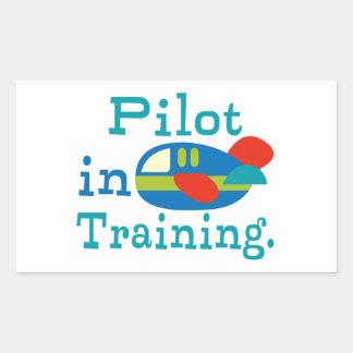 Personalisierter Pilot im Training Rechteckiger Aufkleber