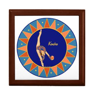 Personalisierter rhythmischer gymnastischer große quadratische schatulle