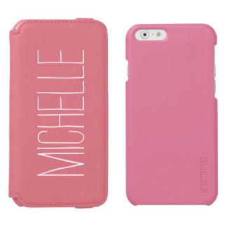 Personalisierter rosa Geldbörse iPhone 6 Incipio Watson™ iPhone 6 Geldbörsen Hülle