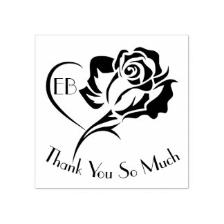 Personalisierter Rosen-Entwurf danken Ihnen Gummistempel