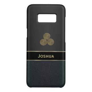 Personalisierter schwarzer Kasten Celtic Triskele