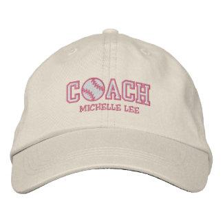 Personalisierter Softball-Trainer Baseballcap