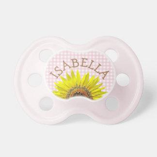Personalisierter Sonnenblume Schnuller