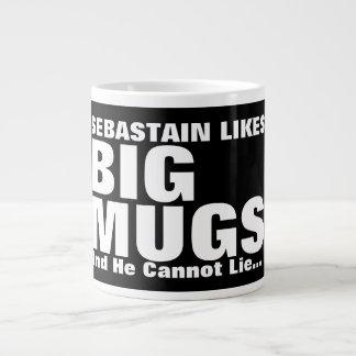 Personalisierter Spaß mag große Tassen und ich Extragroße Tassen