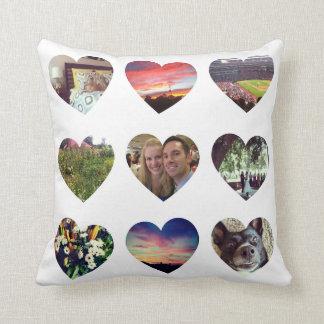 Personalisiertes 18 Herz-geformtes Foto-Kissen Kissen