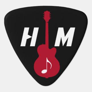 personalisiertes Einzelteil für den Gitarristen Plektrum