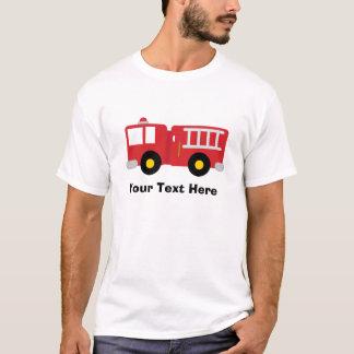 Personalisiertes Feuer-LKW-T-Shirt T-Shirt