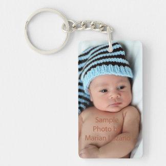 Personalisiertes Foto Keychain Beidseitiger Rechteckiger Acryl Schlüsselanhänger