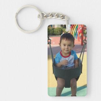 Personalisiertes Foto Keychain Einseitiger Rechteckiger Acryl Schlüsselanhänger