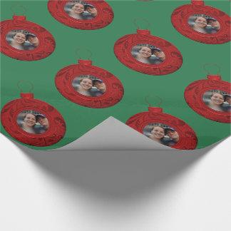 Personalisiertes Foto-Weihnachten schaffen Ihre Geschenkpapier