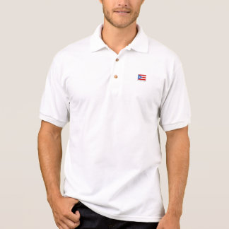 Personalisiertes Golf, Puerto- Ricoflagge Polo Shirt