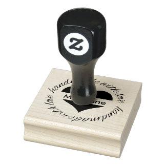 Personalisiertes handgemachtes mit gummistempel